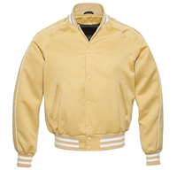 Hito Elegant College Vegas Gold | White Satin Letterman Custom Baseball Varsity Jackets VJ-091