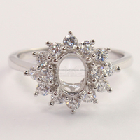 925 Sterling Silver Semi Mount Engagement