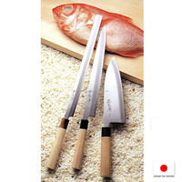 Functional and High quality sushi seaweed kitchen knife with razor-edge made in Japan
