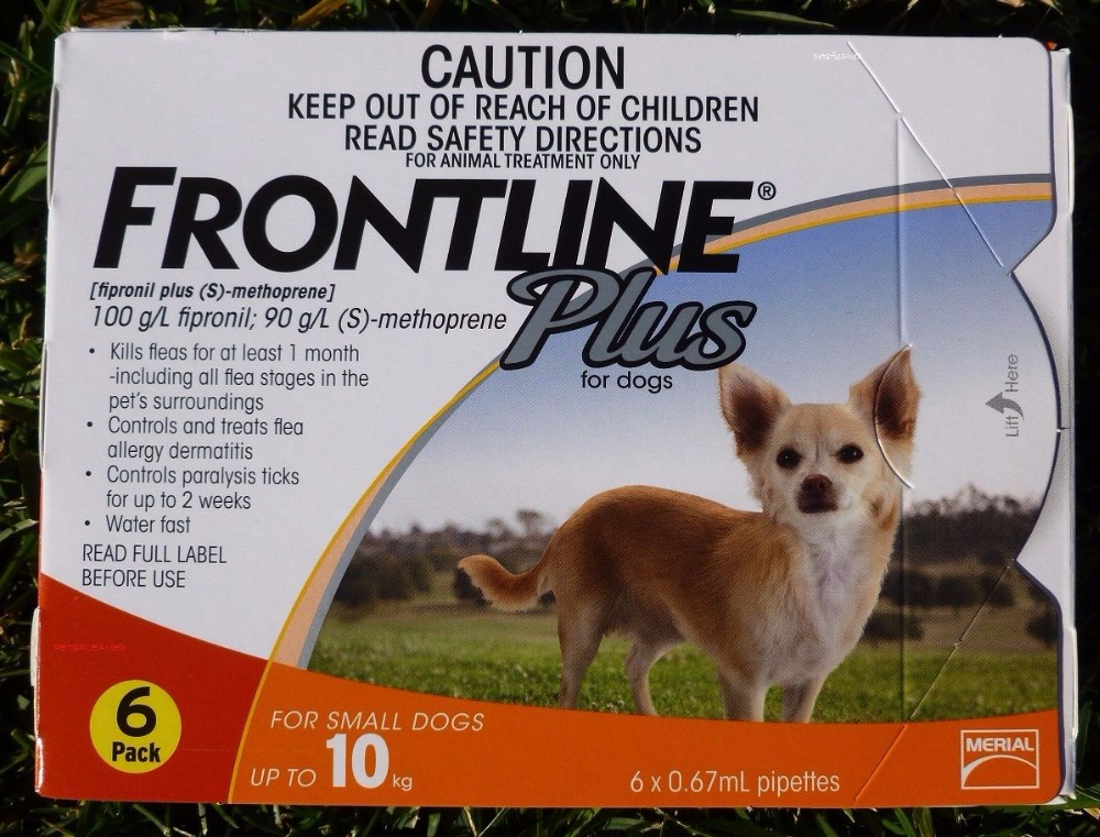 Original Frontline Plus Flea and Tick Protection Small Dogs 10kg ticks and pets Contral