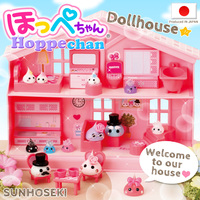 Colorful and Convenient dollhouse miniatures wholesale Hoppe-chan Toy House Sets with multiple functions