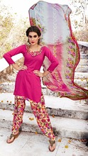 Pink Colored Women'S Leon Crepe Fabric Suit.
