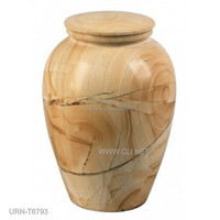 Burma Teak Marble Urns for Ash in Low Price