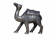 Indian Silver Brass Bronze Indian Camel 3.9 x 4.1 Inches SMA-03