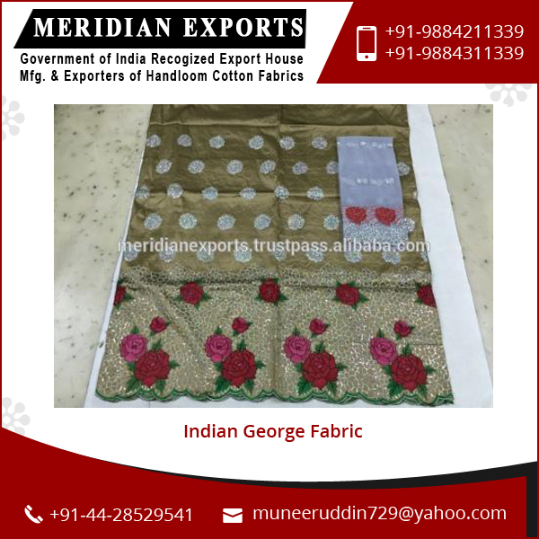 Colorful New Style latest Trading Indian George Fabric Sale