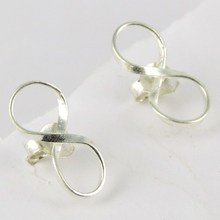 Gifted Charm Modern 925 Sterling Silver Earring, 925 Sterling Silver Jewellery, Silver Jewelry Exporter