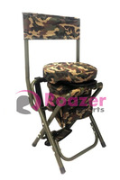 CAMO SWIVEL SEAT CHAIR STOOL PIGEON SHOOTING 360 ROTATING SPINNING BASE