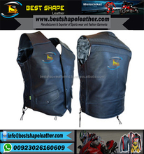 Good Quality Custom Mens Motorcycle Leather Vest