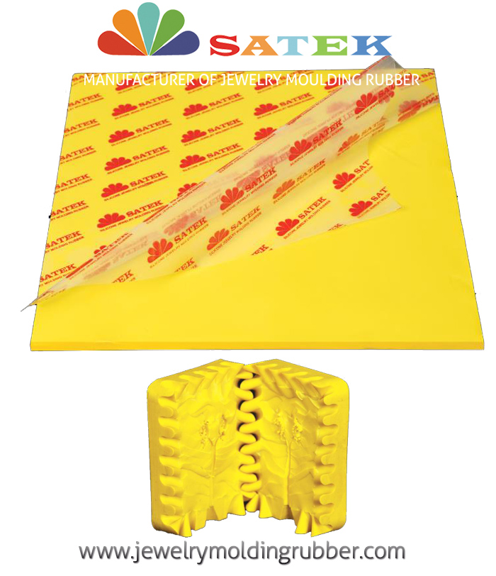 Satek Light Yellow Silicone Jewelry Molding Rubber
