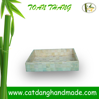 Vietnam handicrated bamboo tray inlaid mother of pearl shell(Skype: jendamy, Mob: +84 914542499)