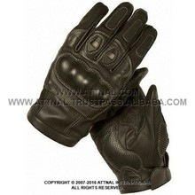 Textile and Analine Leather Racing Glove Featuring Hard Knuckles, Special Directional Ventilation Intake Manifold