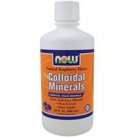 Colloidal Minerals, RASPBERRY, 32 OZ by Now Foods