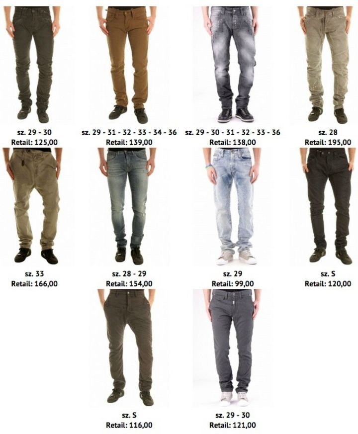 Acid Wash Mens Skinny Jeans