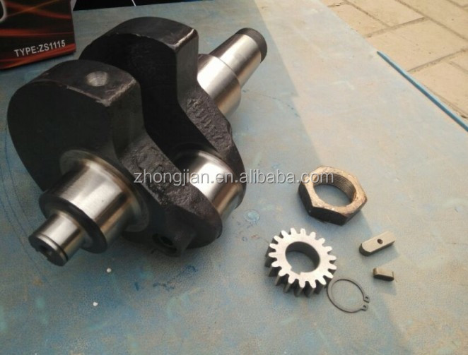 manufacture YQL diesel engine parts ZS1115 crankshaft assembly