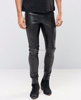 In Stock Wholesale Fashion Green Tight Leather Pants/wholesale fashion design women leather pants