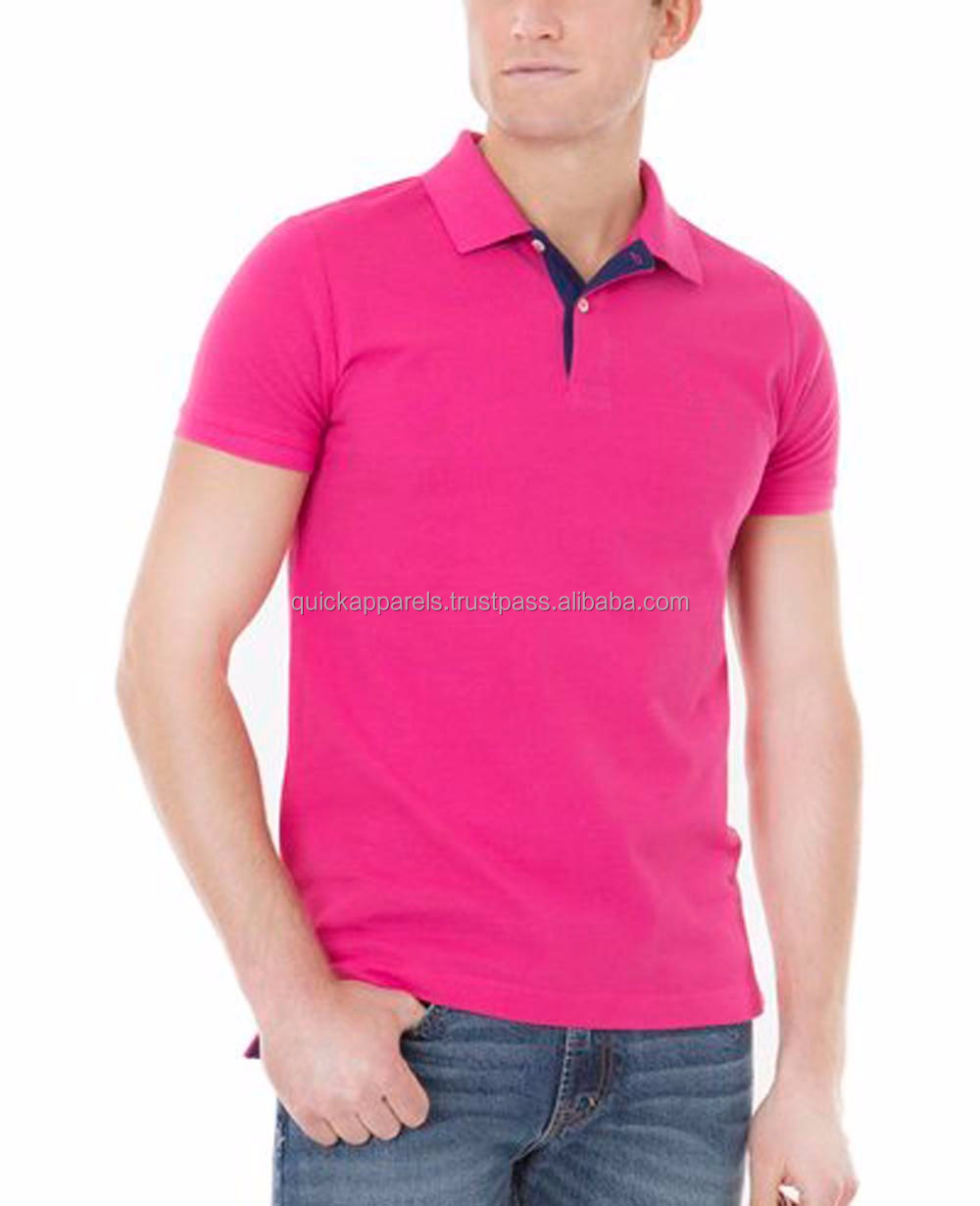 high quality low price customized stylish men's casual blank cotton polo T Shirt