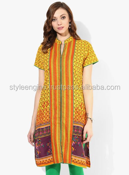 BAND COLLAR CENTER FRONT BORDER PLACEMENT KURTA