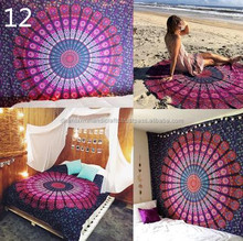 Indian Mandala Round Roundie Beach Throw Tapestry Table Cloth Beach Tapestry