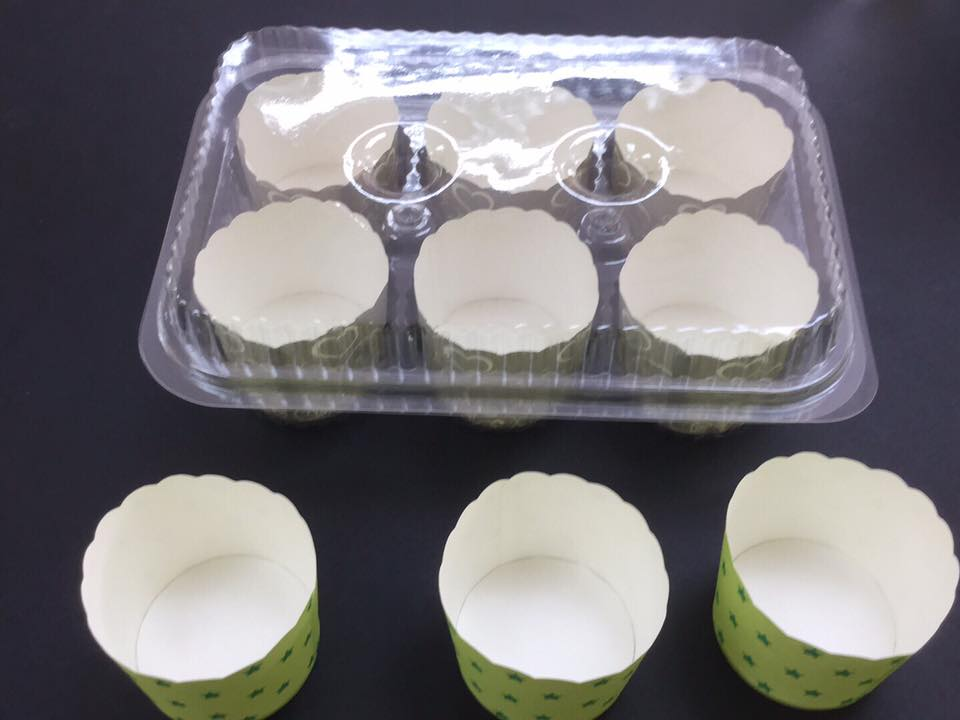 high quality disposable vacuum forming PET plastic packaging for Muffin Cup Cake
