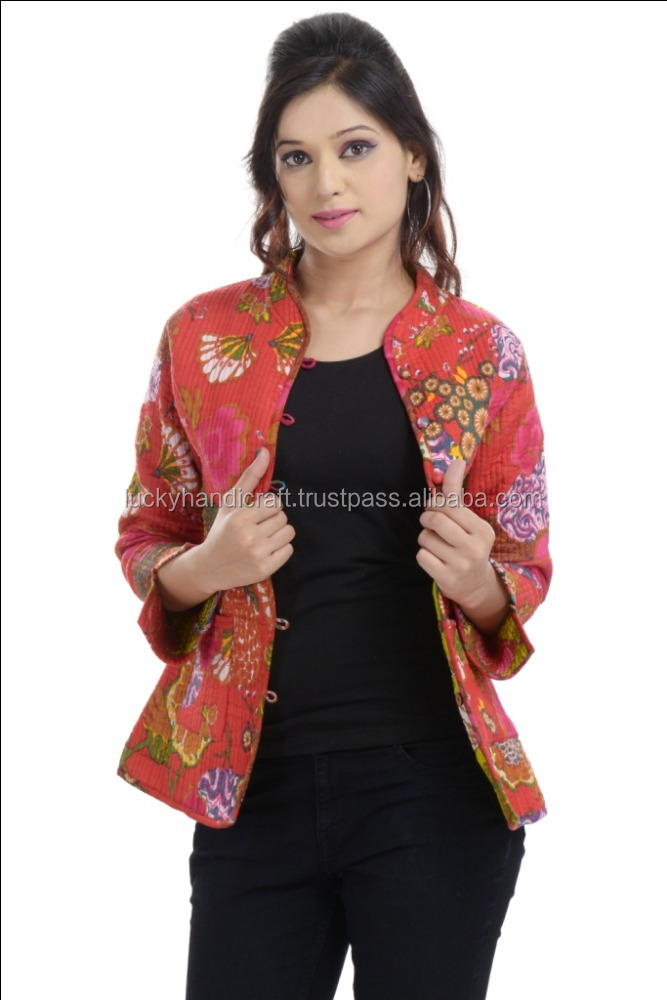 Indian tropical printed designer cotton womens jackets
