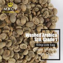 Washed ARABICA VIETNAM GREEN COFFEE BEANS HIGH QUALITY GRADE 1 SCREEN 18