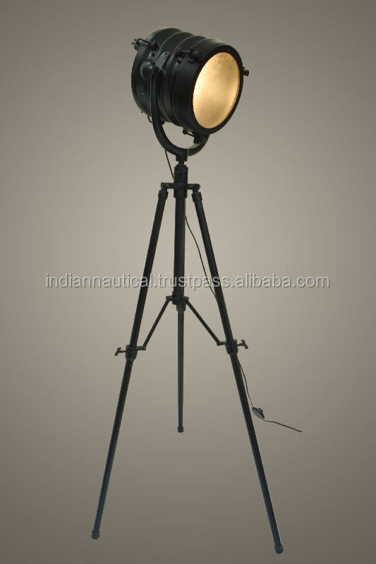 Large Floor Light & Lamp, Classic floor standing lamps, Tripod Lamp On Folding Stand