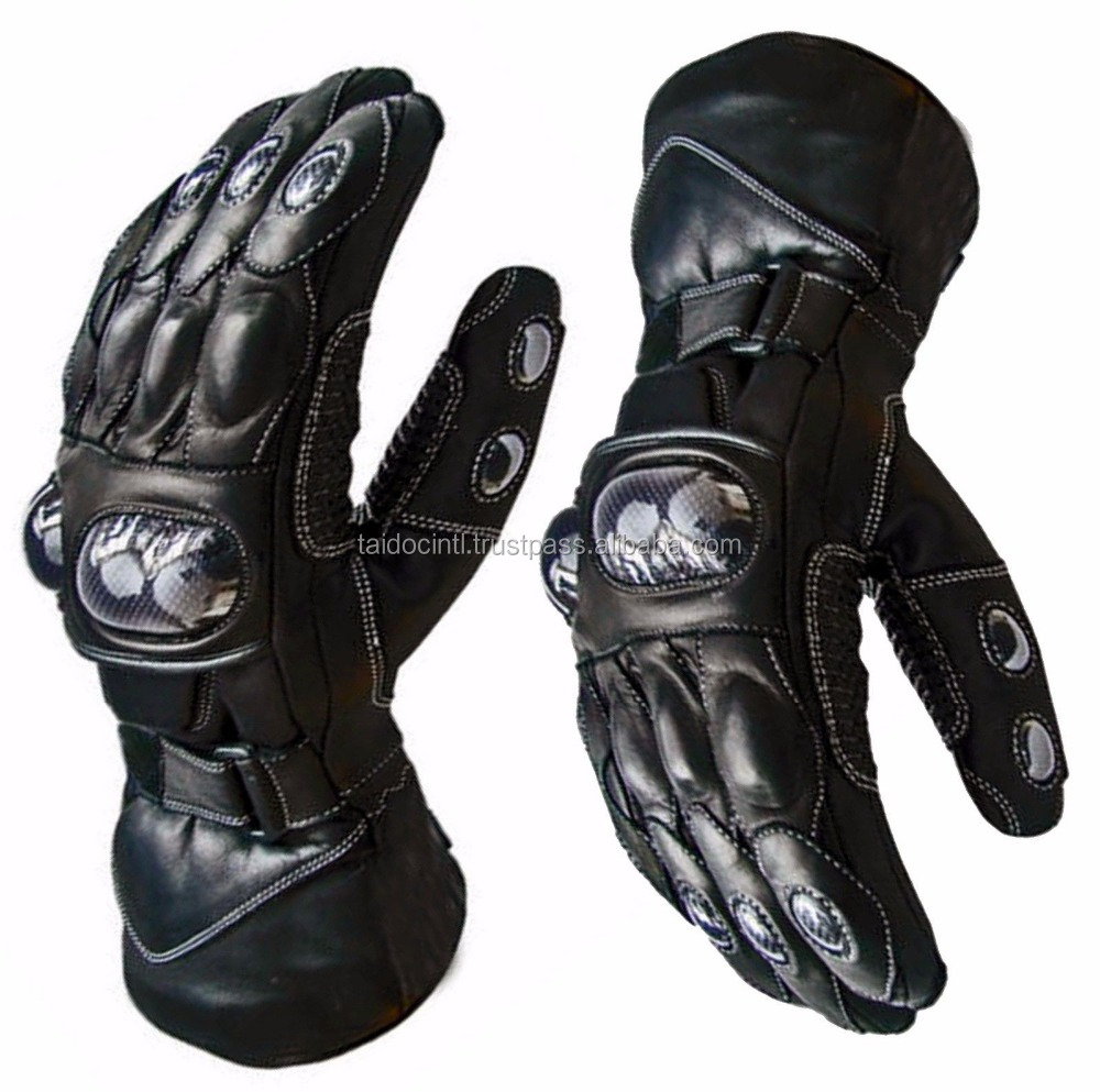 Waterproof Motorbike Motorcycle Leather Gloves for Winter/ Best quality by taidoc