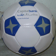 Promotional Star design Laminated Football, new design football/soccer ball
