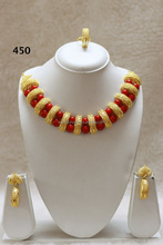 Gold Bead Necklace Set
