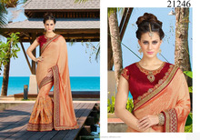 INDIAN AND PAKISTANI CLOTHING DESIGNER HEAVY EMDROIDERY SILK SAREE WHOLESALE IN SURAT