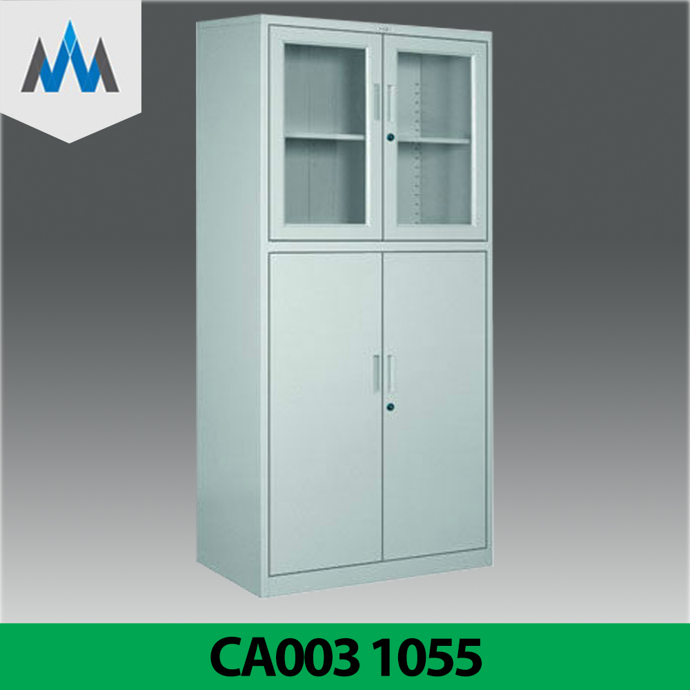 High quality Documents/ Tools Storage Steel Cabinet With Glass Door/ Metal Document Storage Cabinet Manufacturer