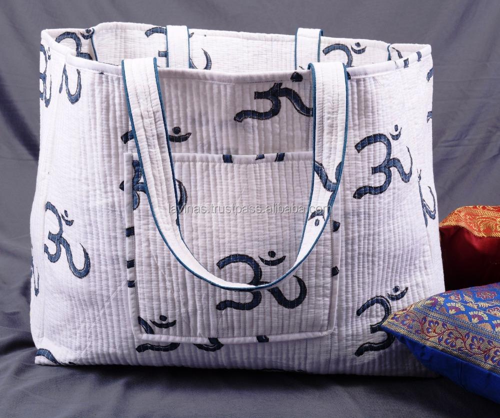 Tassen Uit India : Paisley print hippie boho ontwerper strandtas omkeerbaar