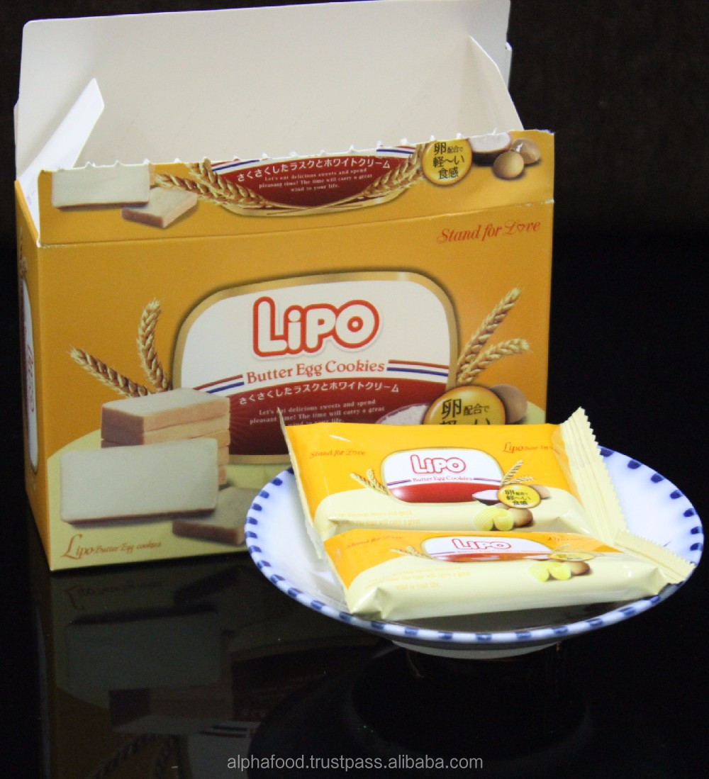 LIPO imported biscuits cookies 95G Box packaging for Asian
