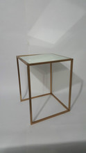 BRASS MIRROR SQUARE TABLE