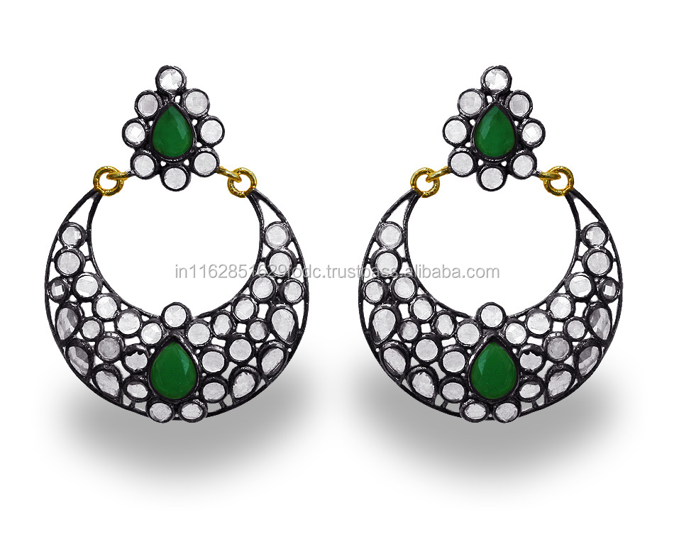 Latest Hot Elegant White CZ Black Plated Fashion Big Chandelier Earring Jewelry Wholesale Low Price ER62