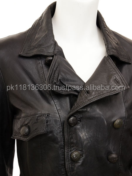 Hot product bomber jacket, woman leather jacket