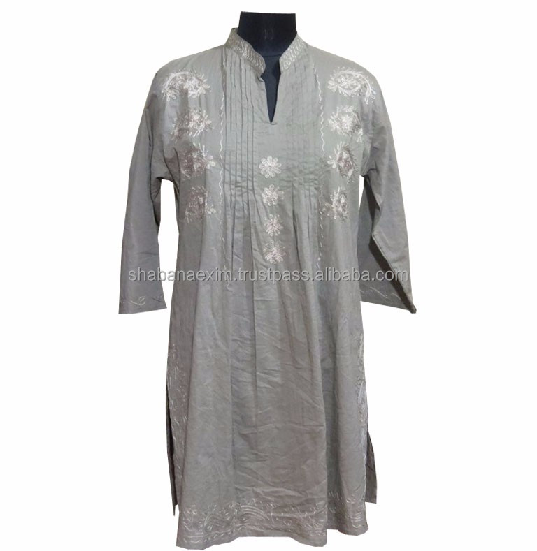 Women Embroidered tunics ladies kurti summer wear
