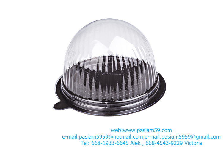 clear plastic cupcake boxes, spheres, trays, brown, clear, NO.E77, cap size 6.9X10.3 cm. Base 10X10.3 cm. Put cake, bread