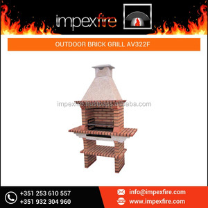 Charcoal and Firewood Brick Outdoor Barbecue Grill / BBQ Grill / BBQ