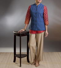 Cotton Khadi Amber Top Stitch Jacket for women