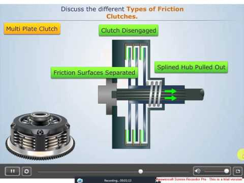 Types of friction clutch - Multi plate clutch , Centrifugal clutch , Diaphragm spring clutch