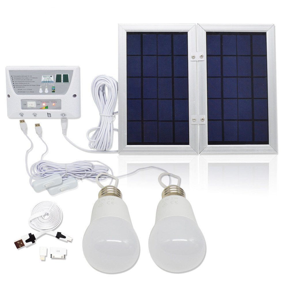 Battery 5v 4.5W Home Solar Powered Lighting System including USB