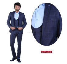 Plaid 3pcs Men's Suit