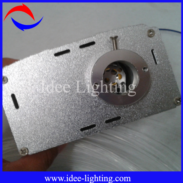 7W LED fiber optic light engine with twinkle wheel