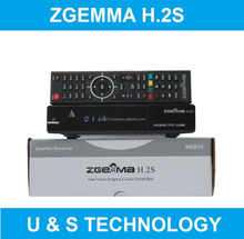 Europe Best Selling Cable Box Zgemma H.2S FTA TV Satellite Receiver Full HD 1080P Dual Core Linux OS E2 DVB-S2+S2 Twin Tuners
