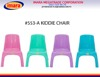 children plastic chair stackable colorful