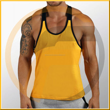 Two tone custom mens racerback dropped armholes tank top