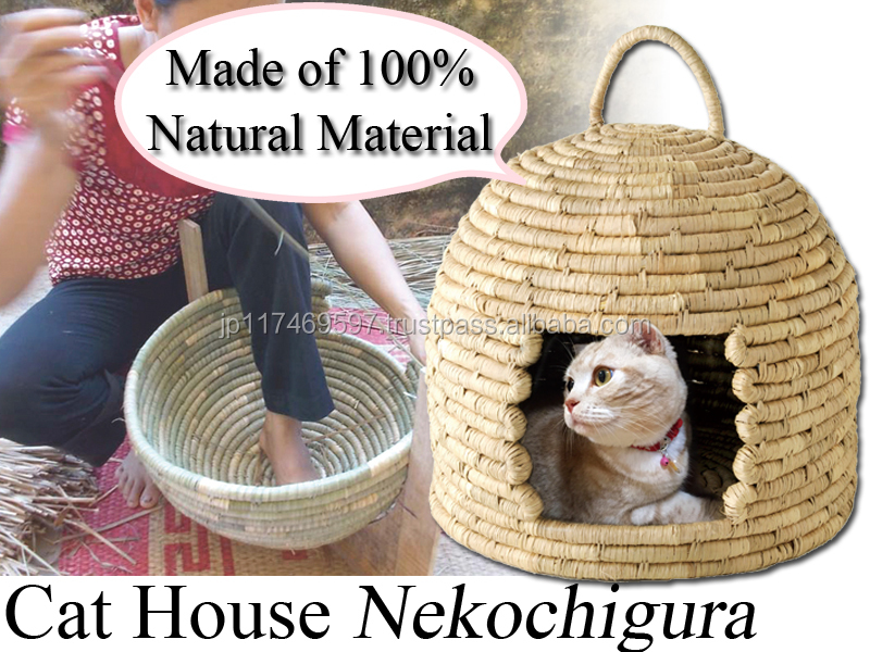 Arnest pet product accessories cages carrier 100% natural materials hand made cat house made in Veitnam 76593