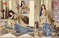 Exclusive fancy Printed Multicolor Saree On tusser Silk Fabric