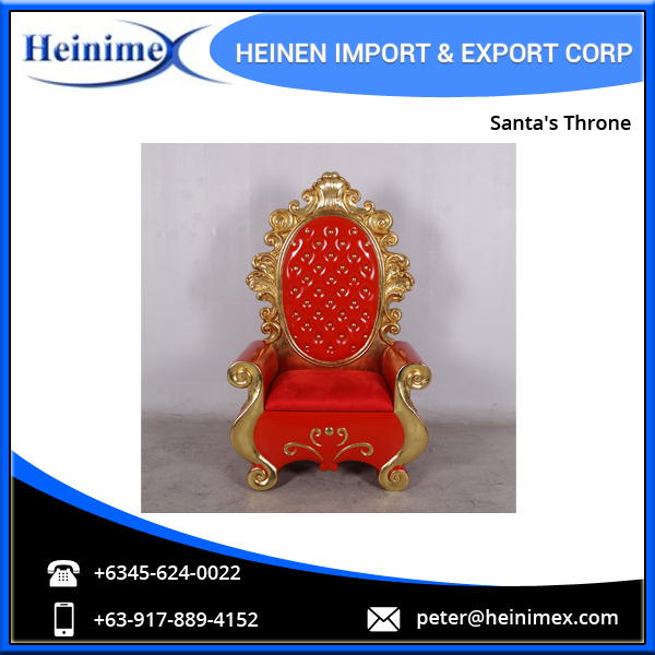 Fibreglass Decorative Santa's Throne Chair